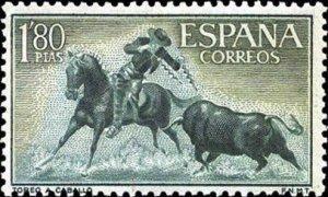 Spain 1960 Mounted Picador placing lances