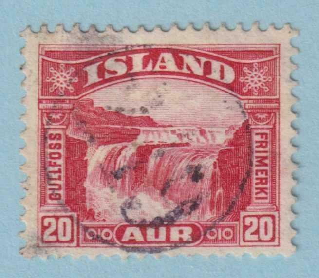 ICELAND - NUMERAL CANCELLATION 219 ON 20 AUR GULLFOSS  - NO FAULTS EXTRA FINE!