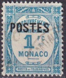 Monaco #141 F-VF Used CV $7.75 (Z4340)