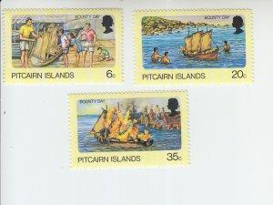 1976 Pitcairn Is Bounty Day (3)  (Scott 174-76) MNH