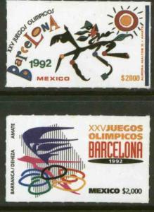 MEXICO 1718-1719, SUMMER OLYMPICS, BARCELONA. MINT, NH. F-VF.