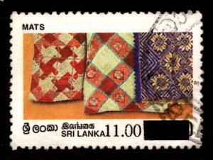 Sri Lanka SURCHARGED 1997 Mats Handicrafts 11r on 10.50r Scott.1190 Used (#1)