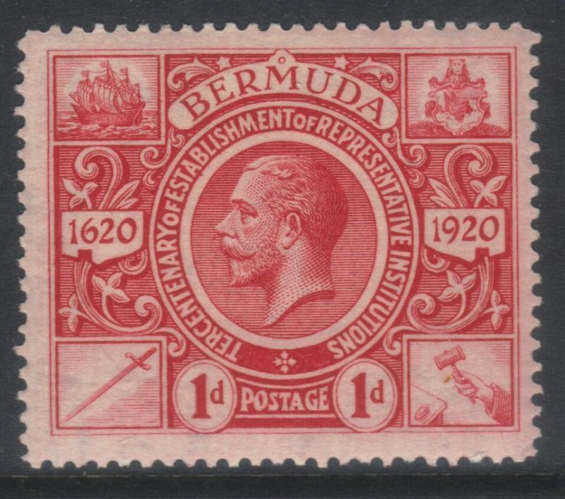 BERMUDA 1921 TERCENT OF PRERESENTATIVE INST (2nd ISSUE) SG76 MH CAT £11
