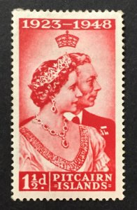 Pitcairn Islands 1949 #11, Silver Wedding, Unused/MH.