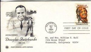 1984, Honoring Douglas Fairbanks, PCS, FDC (E8535)
