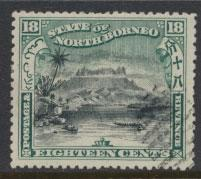 North Borneo  SG 110 Used  perf 14 x 13½  corrected inscription see scan & d...