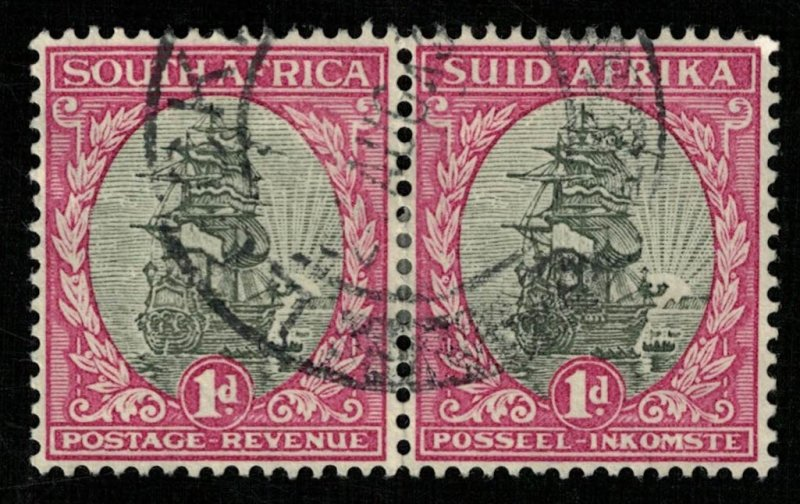 1926-1945, South Africa, SOUTH AFRICA or SUIDAFRIKA, 1d, Pair (RT-211)