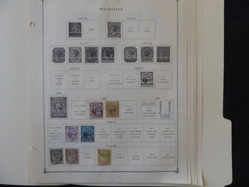 Mauritius 1900-1969  Mint/Used  Stamp Collection Scott Intl Album Pages