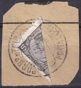 Portugal #157 F-VF Used Bisect On Small Piece  (Z3222)