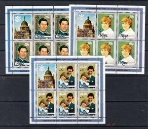 Niue Scott B52-B54 Mint NH mini-sheets (Catalog Value $30.50)