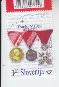 2019 Slovenia Franjo Malgaj Military Hero (Scott NA) MNH