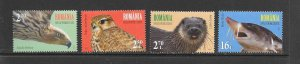 ROMANIA #5943-6  PROTECTED SPECIES  MNH