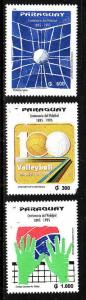 Paraguay-Sc#2518-20-unused NH set-Sports-1995-please note the 300g stamp has a p