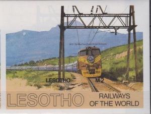 LESOTHO SHEET IMPERF TRAINS RAILWAYS
