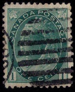 CANADA SCOTT #75 USED QV 1c GREEN GRAY VF/XF