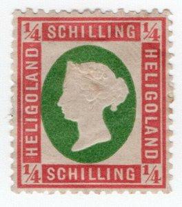 (I.B) Heligoland Postal : Definitive Head ¼sch