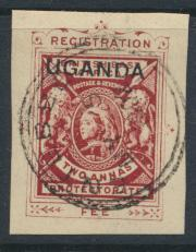 Uganda Protectorate Queen Victoria Used - Registered prepaid - see details