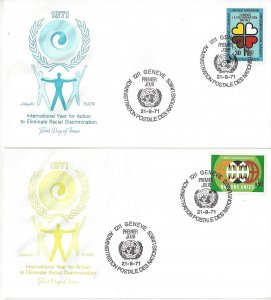 United Nations Geneva  19-20  FDC  Artmaster Racial Discrimination