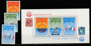 Antilles Neerlandaises  482-84 + 484a  (N**)  1982  Complet