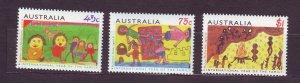J23766 JLstamps 1994 australia set mnh #1372-4 paintings