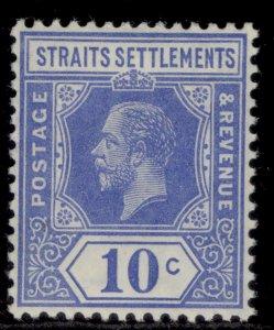 MALAYSIA - Straits Settlements GV SG203a, 10c bright blue, VLH MINT.
