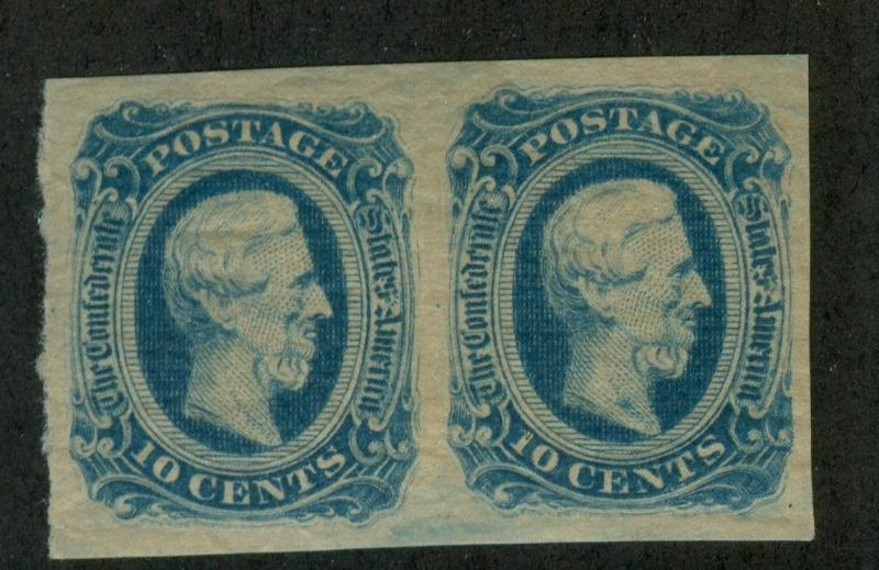 U.S. - Confederate States - 12 - Pair - EXTRA FINE - Never Hinged