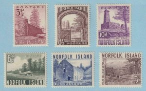 NORFOLK ISLAND 13 - 18  MINT NEVER HINGED OG ** NO FAULTS VERY FINE ! - W143