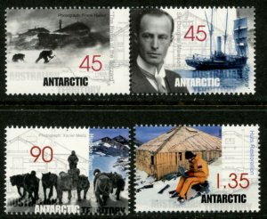 AUSTRALIAN ANTARCTIC Sc#L111-114 1999 Mawson Huts Complete Set Mint OG NH