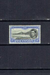 ASCENSION ISLAND - 1938 KING GEORGE VI 3p ULTRA - SCOTT 44 - MH