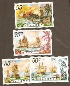 Barbuda Scott  # 209-12 Mint  never hinged