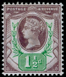 SG198 SPEC K29(1), 1½d pale dull purple & pale green, NH MINT. Cat £25.