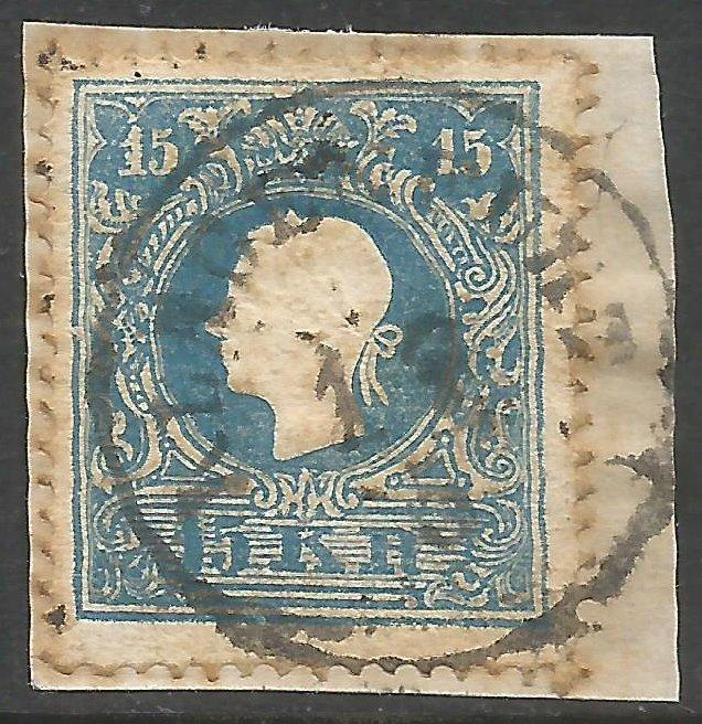 AUSTRIA 11 VFU ON PIECE 977D