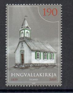 Iceland Sc  1180 2009 Thingvelir Church stamp mint NH