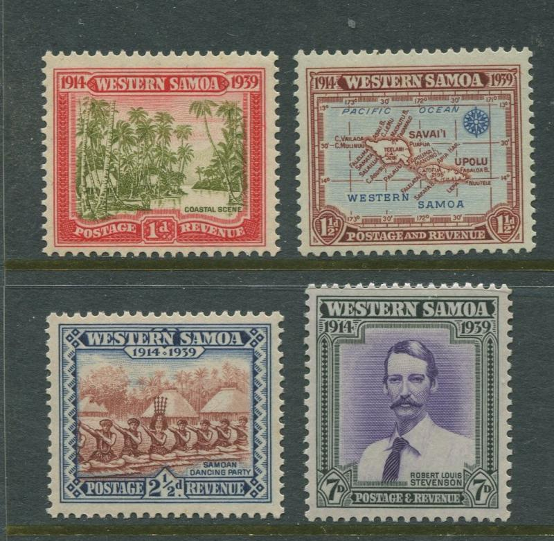 Samoa - Scott 181-184 - Definitive Issue -1939 - MNH - Set of 4 Stamps