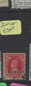 INDIA  PATIALA (P3004B)   KGVI  1A  SG 101   VFU