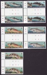 British Antarctic Territory-Sc #275-9-set-Fish-gutter pairs-