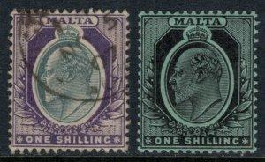 Malta #39 used, #40 mint  CV $11.15