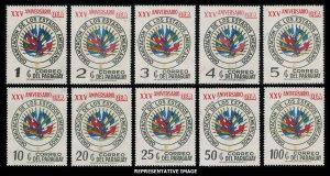 Paraguay Scott 1486-1495 Mint never hinged.