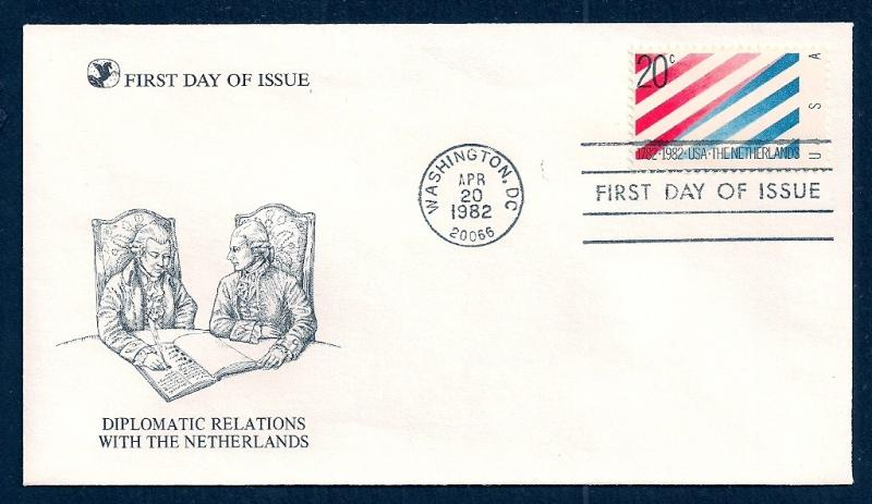 UNITED STATES FDC 20¢ US Netherlands 1982 Readers Digest