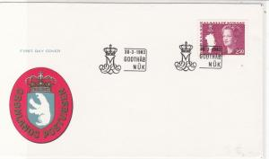 Greenland 1983 Polar Bear Shield Crown M Slogan Cancels FDC Stamps Cover Rf25688