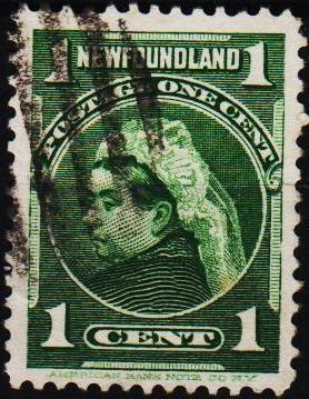 Newfoundland. 1897 1c  S.G.85a Fine Used