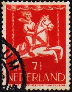 Netherlands. 1946 7 1/2c+2 1/2c S.G.633 Fine Used