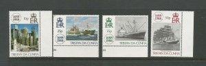 Tristan da Cunha 1988 300th Anniversary Of Lloyds Of London UMM SG 457/60