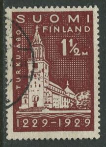 Finland - Scott 156 - Turku Castle 700th Anniv. -1929- FU - Single 1.5m Stamp