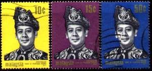 Installation of Sultan Abdul Halim of Kedah, Malaysia SC#79-81 used set