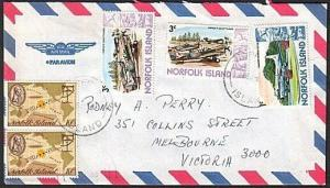 NORFOLK IS 1985 airmail cover to Australia.................................77383