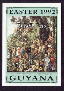 Guyana-Sc#2567-unused NH sheet-Easter-Paintings-1992-