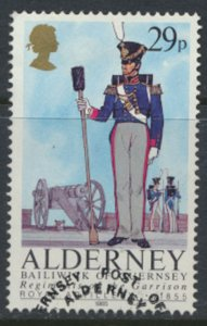 Alderney  SG A25  SC# 25 Military Uniforms Used First Day Cancel - as per scan