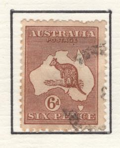 Australia 1915-24 Stamps Kangaroo & Map 6d Scott 49 F