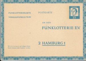 Germany Privatkarte Postkarte Deutsche Funklotterie E.V. Postal Card 1965 Unused